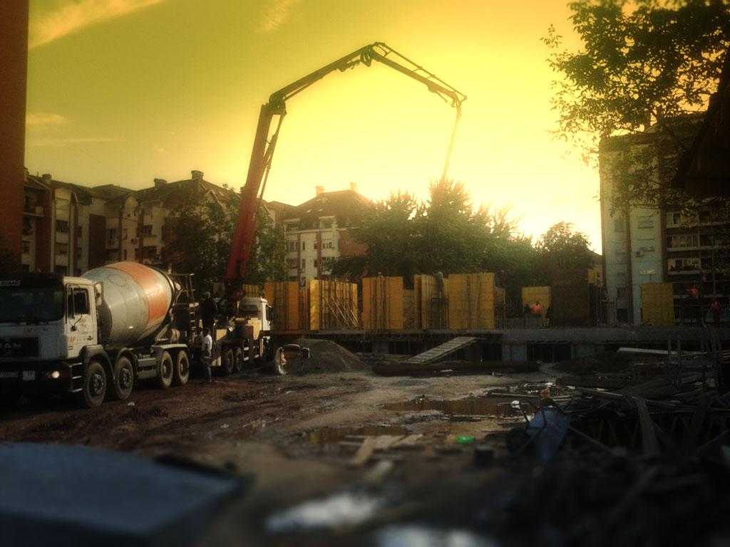 Stabilprojekt - Gradiliste gradilište 8 zgrade u ulici Naserova