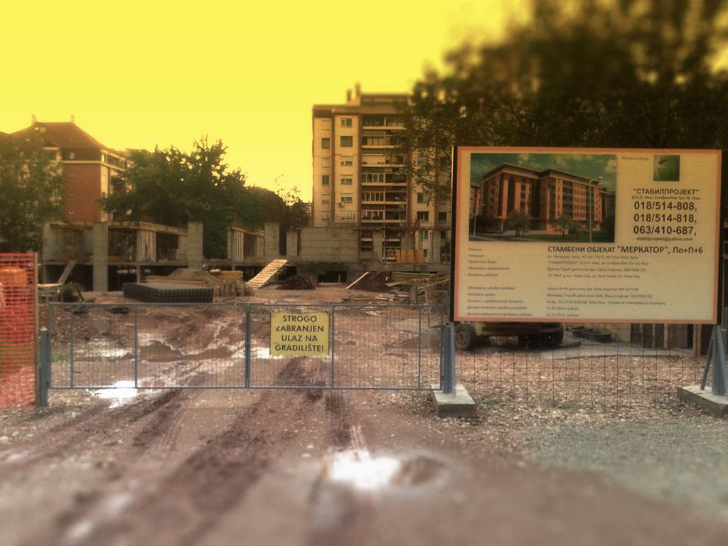 Stabilprojekt - Gradiliste gradilište 9 zgrade u ulici Naserova