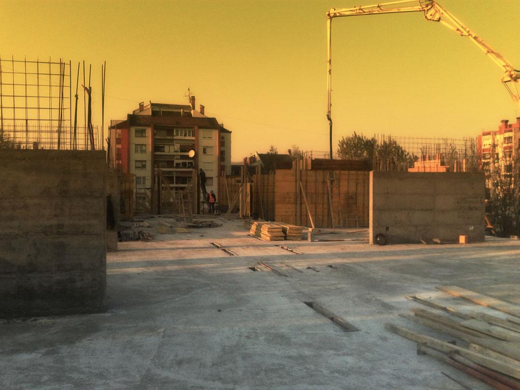 Stabilprojekt - Gradiliste gradilište 14 zgrade u ulici Naserova