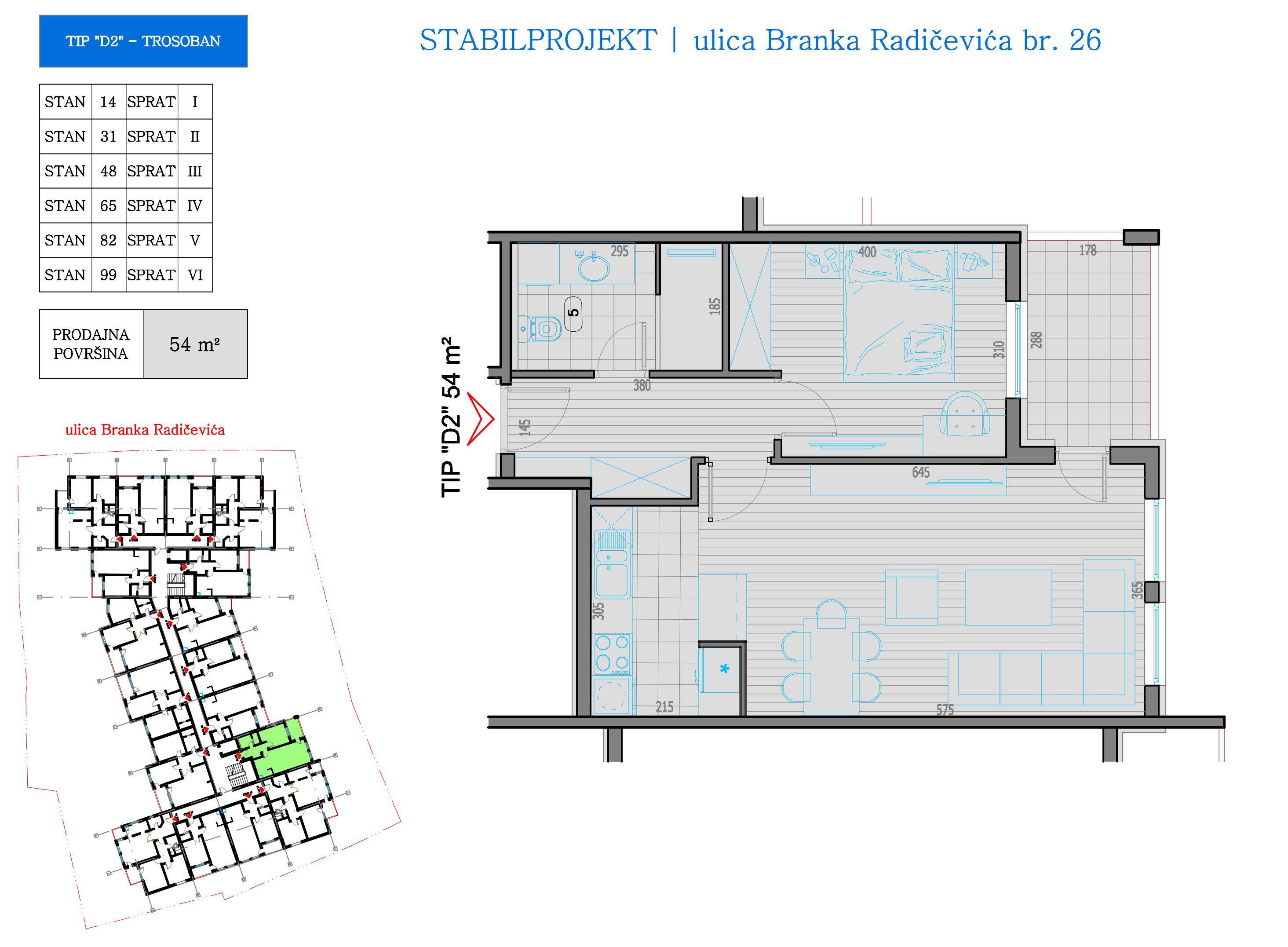 prodaja, stanova, Niš, Nis, STAN TIP D2